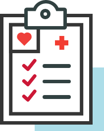 physical therapy visit checklist icon