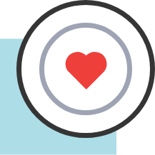 functional medicine icon with heart