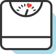 scale icon with heart