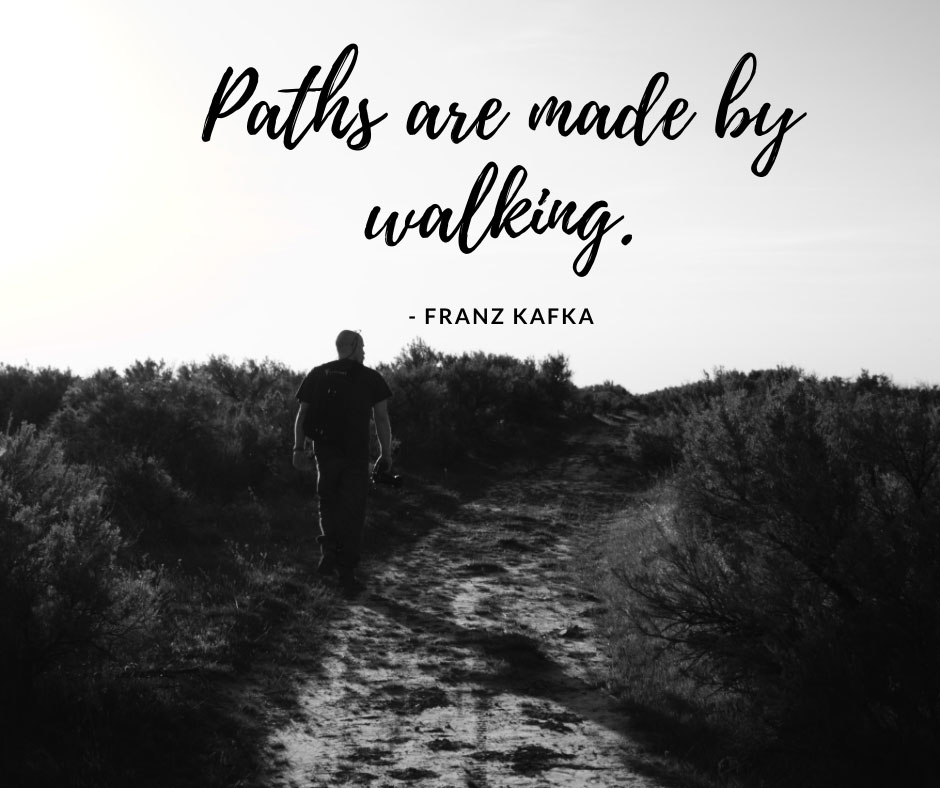 Paths are made by walking - hiking photo