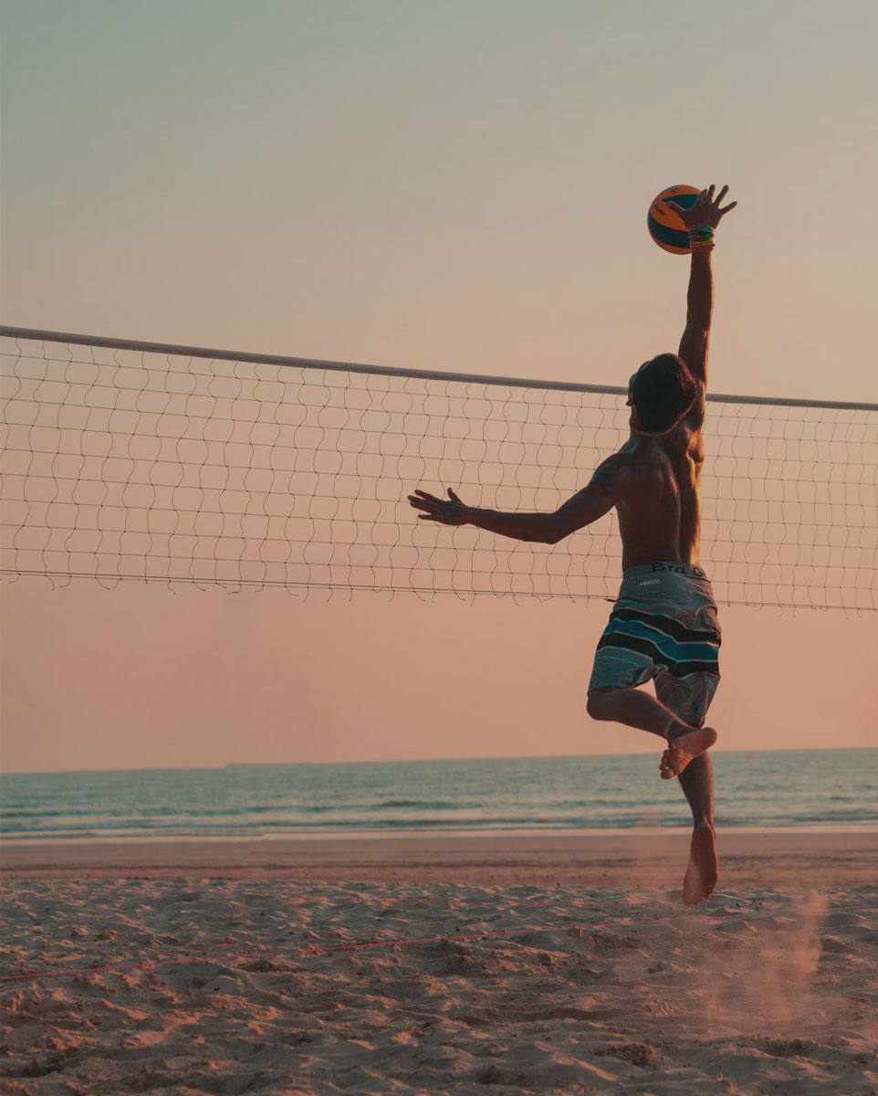 volleyball sport playing on beach